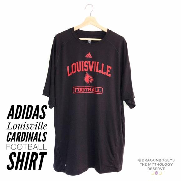 release date fa038 cf7ef Adidas Louisville Cardinals Football Shirt